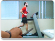 video still of man running