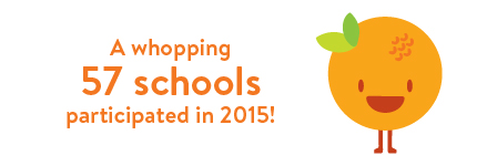 A whopping 57 schools participated in 2015!