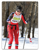 Dr. Heather Cichanaowski skiing