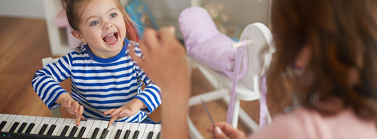 Banner: Toddler Plays Piano