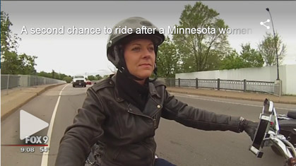 Video: Minnesota motorcyclist rides again after amputation, helps others