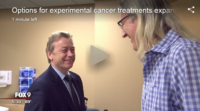 Video screenshot:  Twin Cities cancer patients now have more options when it comes to experimental treatments