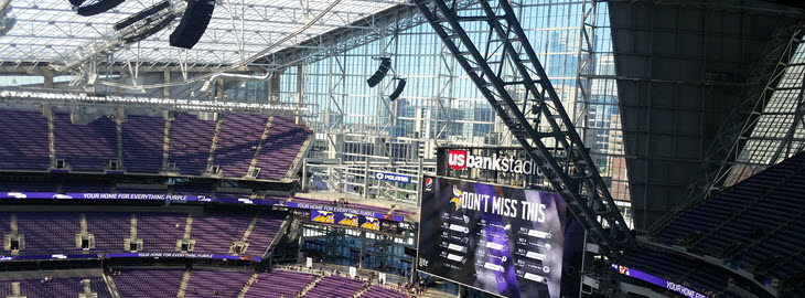 Image: US Bank Stadium Home of the Minnesota Vikings