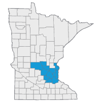 Image: Map of Minnesota counties that are in the MSHO plan service area - 2017