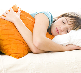 woman sleeping comfortably