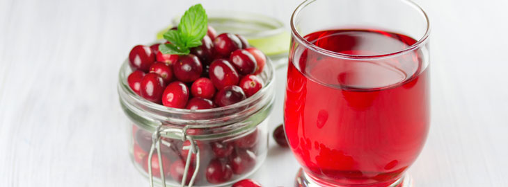 Image: Cranberries and cranberry juice banner