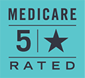 Image: 5 Star Medicare rated graphic