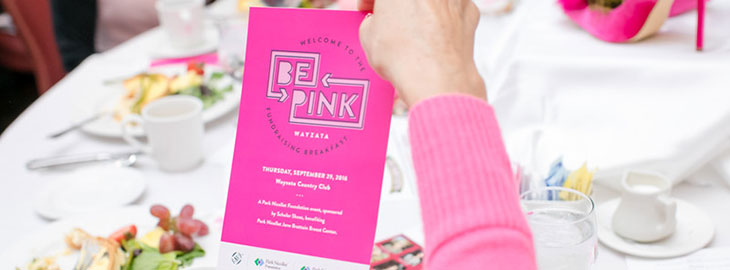 Image: Be Pink Wayzata fundraiser flyer