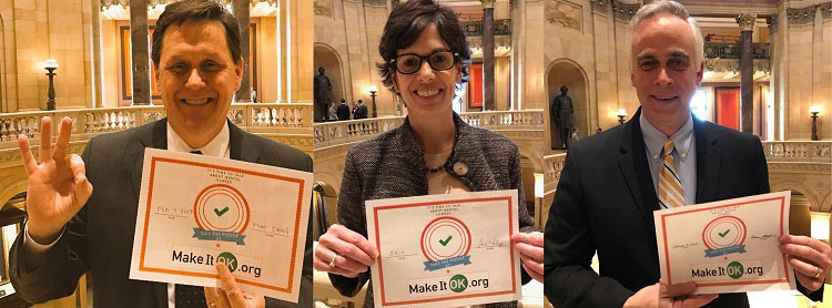 Banner: MGH blog - Minnesota lawmakers take the pledge to Make It OK