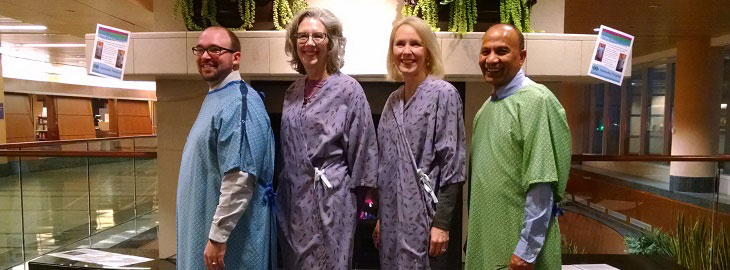 Image: MGH Blog - No butt's about it: new patient gowns improve patient experience
