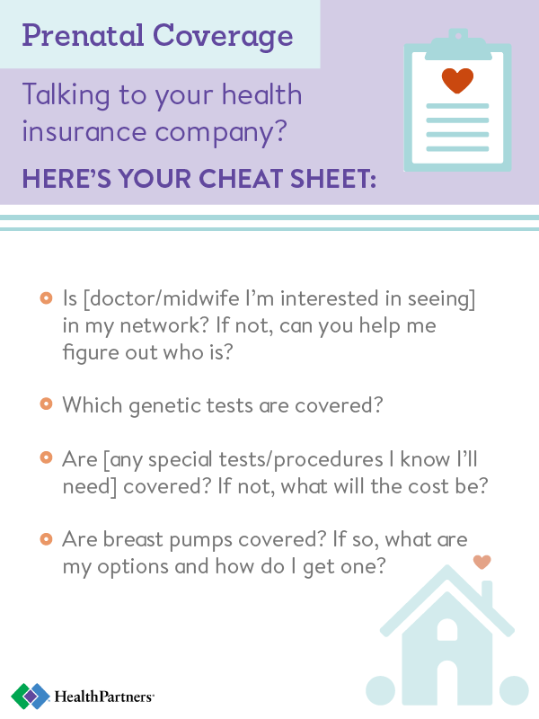 What prenatal care will my health insurance cover? - Health