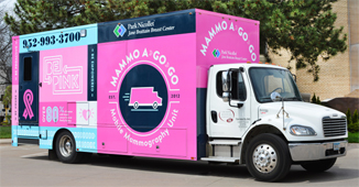 Image: Community relations: Wellness Prevention mammo truck