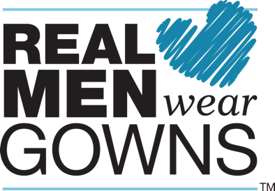 Real men wear gowns campaign logo