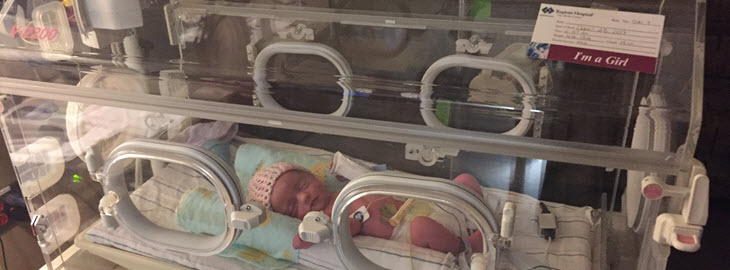 Banner: MGH blog - Born 7 weeks early, Baby Frances gets care at Regions Special Care Nursery