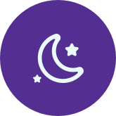 Image: 1975 Stars and moon icon, nurse support by phone gives members night and weekend help
