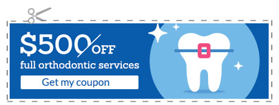 Coupon: $500 off full orthodontic services