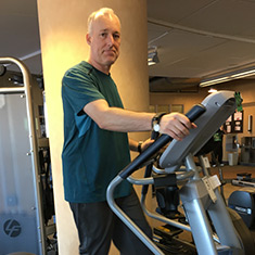 Alex goes to cardiac rehab twice a week at Park Nicollet