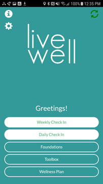 The LiveWell app
