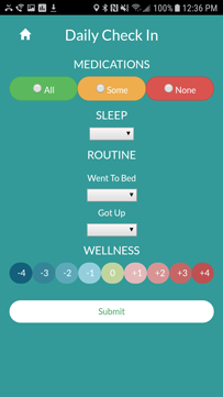 The LiveWell app is designed to track mood and functioning
