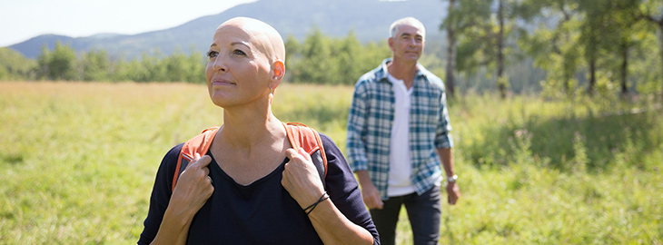 Banner: Health blog - Living with cancer: lifestyle changes, nutrition and exercise
