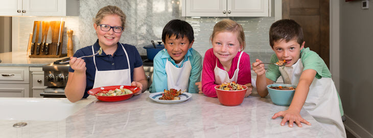 Banner: Health blog - How to get kids excited about cooking with and eating fruits and veggies