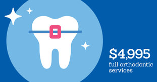 Image: $4,995 full orthodontic services